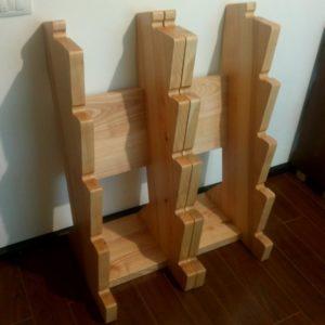 forma suporturilor de greutati permite asezarea acestora unul langa altul sau cu distanta intre ele
