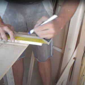 marcarea bucatilor scurte din bagheta din lemn de frasin