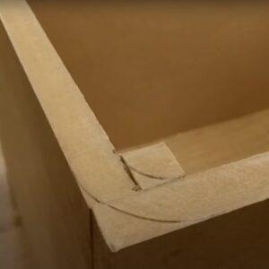 marcarea rotunjimilor colturilor interioare si exterioare ale noptierelor