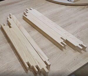 am facut decupajele necesare pentru imbinari de tip box joint