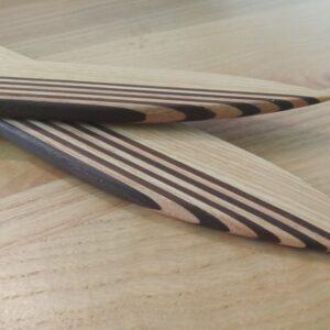 aspectul cutitelor din lemn, dupa aplicarea uleiului